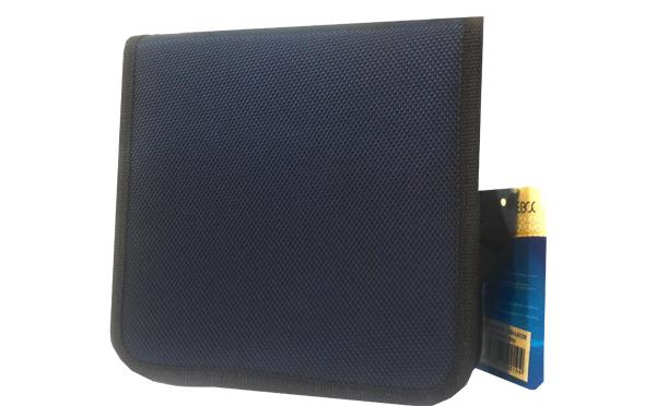 کیف سی دی EBOX برزنتی سورمه ای 40 عددی