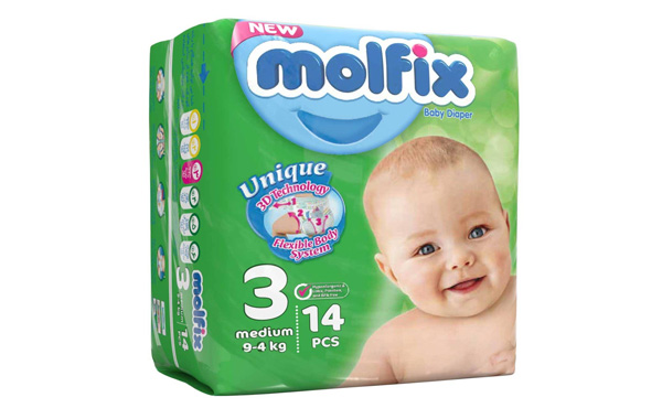 پوشک مولفیکس سایز 3 بسته 14 عددی