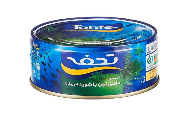تن ماهی تحفه با شوید 180 گرمی