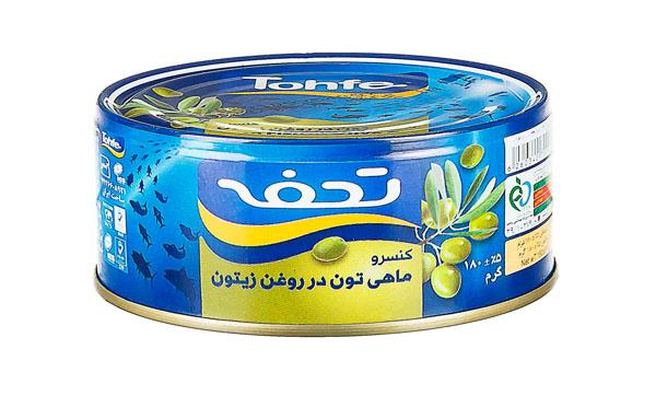 تن ماهی تحفه در روغن زیتون 180 گرمی