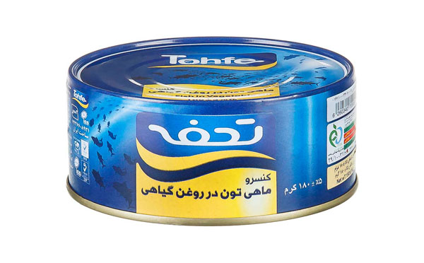 تن ماهی تحفه 180 گرمی در روغن گیاهی